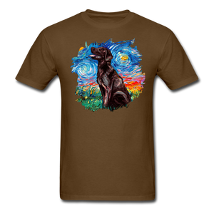 Chocolate Labrador Night Splash Unisex Classic T-Shirt - brown