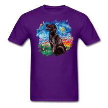 Load image into Gallery viewer, Chocolate Labrador Night Splash Unisex Classic T-Shirt - purple