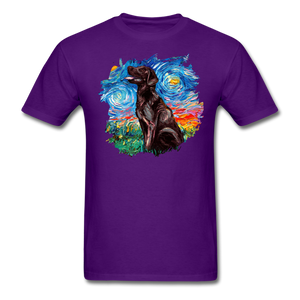 Chocolate Labrador Night Splash Unisex Classic T-Shirt - purple