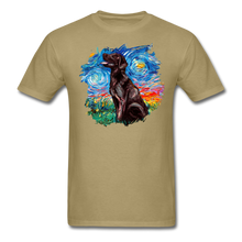 Load image into Gallery viewer, Chocolate Labrador Night Splash Unisex Classic T-Shirt - khaki