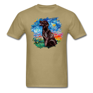 Chocolate Labrador Night Splash Unisex Classic T-Shirt - khaki