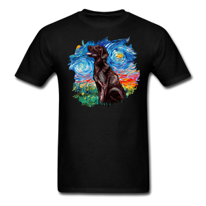 Chocolate Labrador Night Splash Unisex Classic T-Shirt - black