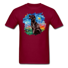 Load image into Gallery viewer, Chocolate Labrador Night Splash Unisex Classic T-Shirt - burgundy