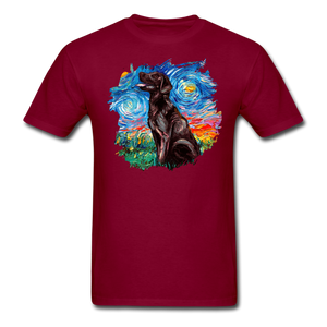 Chocolate Labrador Night Splash Unisex Classic T-Shirt - burgundy