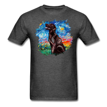 Load image into Gallery viewer, Chocolate Labrador Night Splash Unisex Classic T-Shirt - heather black