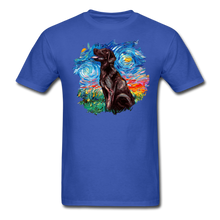 Load image into Gallery viewer, Chocolate Labrador Night Splash Unisex Classic T-Shirt - royal blue