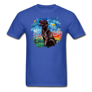 Chocolate Labrador Night Splash Unisex Classic T-Shirt - royal blue