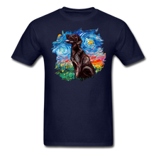Load image into Gallery viewer, Chocolate Labrador Night Splash Unisex Classic T-Shirt - navy