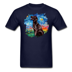 Chocolate Labrador Night Splash Unisex Classic T-Shirt - navy