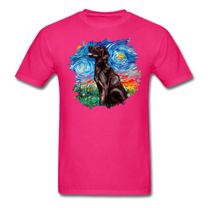 Chocolate Labrador Night Splash Unisex Classic T-Shirt - fuchsia