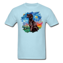 Load image into Gallery viewer, Chocolate Labrador Night Splash Unisex Classic T-Shirt - powder blue
