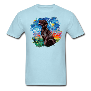 Chocolate Labrador Night Splash Unisex Classic T-Shirt - powder blue