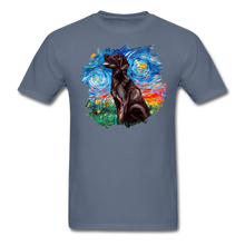 Load image into Gallery viewer, Chocolate Labrador Night Splash Unisex Classic T-Shirt - denim
