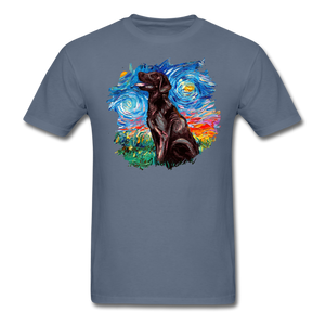 Chocolate Labrador Night Splash Unisex Classic T-Shirt - denim