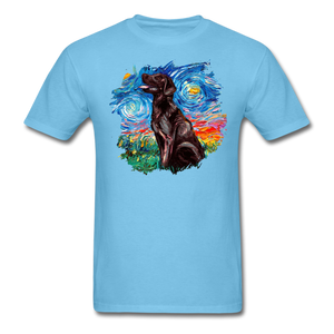 Chocolate Labrador Night Splash Unisex Classic T-Shirt - aquatic blue