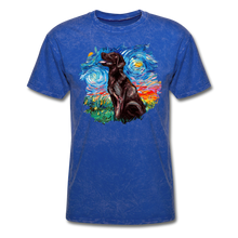 Load image into Gallery viewer, Chocolate Labrador Night Splash Unisex Classic T-Shirt - mineral royal