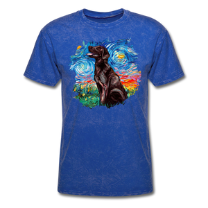 Chocolate Labrador Night Splash Unisex Classic T-Shirt - mineral royal
