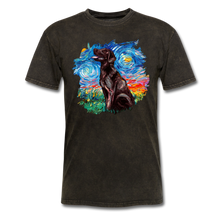 Load image into Gallery viewer, Chocolate Labrador Night Splash Unisex Classic T-Shirt - mineral black