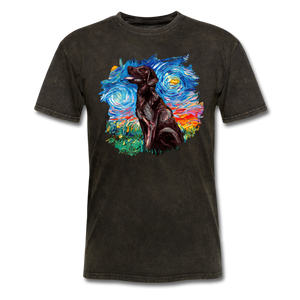 Chocolate Labrador Night Splash Unisex Classic T-Shirt - mineral black