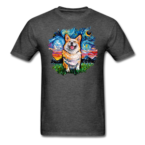 Smiling Corgi Night Splash Unisex Classic T-Shirt - heather black