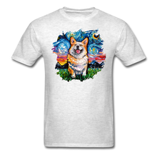 Load image into Gallery viewer, Smiling Corgi Night Splash Unisex Classic T-Shirt - light heather gray