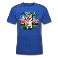 Load image into Gallery viewer, Smiling Corgi Night Splash Unisex Classic T-Shirt - mineral royal