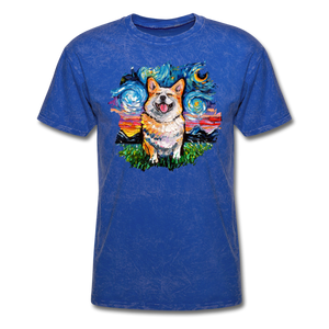Smiling Corgi Night Splash Unisex Classic T-Shirt - mineral royal