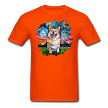 Load image into Gallery viewer, Smiling Corgi Night Splash Unisex Classic T-Shirt - orange