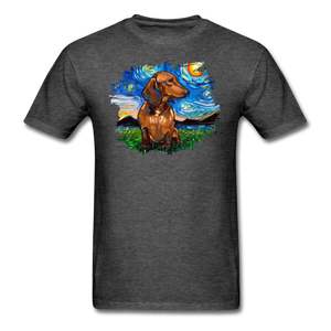 Brown Short Hair Dachshund Night Splash Unisex Classic T-Shirt - heather black