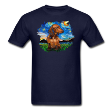 Load image into Gallery viewer, Brown Short Hair Dachshund Night Splash Unisex Classic T-Shirt - navy