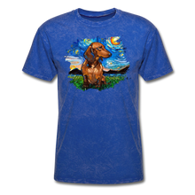Load image into Gallery viewer, Brown Short Hair Dachshund Night Splash Unisex Classic T-Shirt - mineral royal