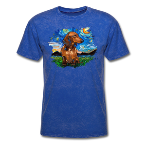 Brown Short Hair Dachshund Night Splash Unisex Classic T-Shirt - mineral royal