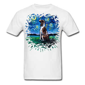 English Springer Spaniel Night Splash Unisex Classic T-Shirt - white