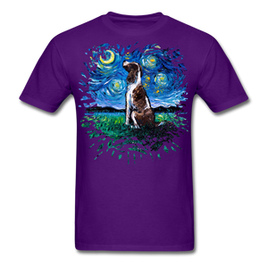 English Springer Spaniel Night Splash Unisex Classic T-Shirt - purple