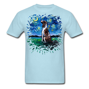 English Springer Spaniel Night Splash Unisex Classic T-Shirt - powder blue