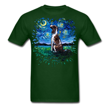 Load image into Gallery viewer, English Springer Spaniel Night Splash Unisex Classic T-Shirt - forest green