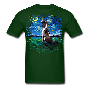 English Springer Spaniel Night Splash Unisex Classic T-Shirt - forest green