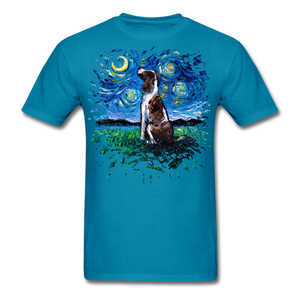 English Springer Spaniel Night Splash Unisex Classic T-Shirt - turquoise