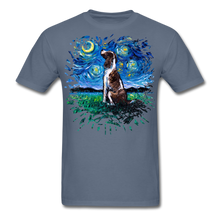 Load image into Gallery viewer, English Springer Spaniel Night Splash Unisex Classic T-Shirt - denim