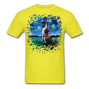 English Springer Spaniel Night Splash Unisex Classic T-Shirt - yellow