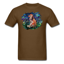 Load image into Gallery viewer, Dachshund Night Splash Unisex Classic T-Shirt - brown