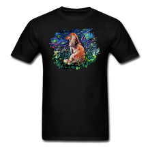 Load image into Gallery viewer, Dachshund Night Splash Unisex Classic T-Shirt - black