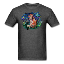 Load image into Gallery viewer, Dachshund Night Splash Unisex Classic T-Shirt - heather black