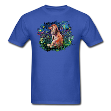 Load image into Gallery viewer, Dachshund Night Splash Unisex Classic T-Shirt - royal blue