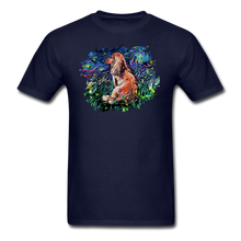 Load image into Gallery viewer, Dachshund Night Splash Unisex Classic T-Shirt - navy