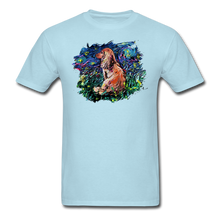 Load image into Gallery viewer, Dachshund Night Splash Unisex Classic T-Shirt - powder blue