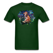 Load image into Gallery viewer, Dachshund Night Splash Unisex Classic T-Shirt - forest green