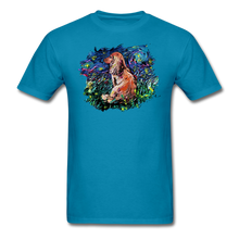 Load image into Gallery viewer, Dachshund Night Splash Unisex Classic T-Shirt - turquoise