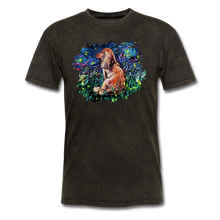 Load image into Gallery viewer, Dachshund Night Splash Unisex Classic T-Shirt - mineral black