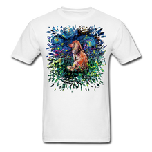 Load image into Gallery viewer, Dachshund Night Splash version 2 Unisex Classic T-Shirt - white